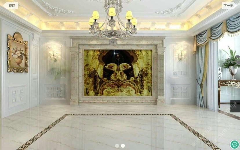 中式欧式现代中西设计护理加盟代理玉石背景墙奢石线条图片