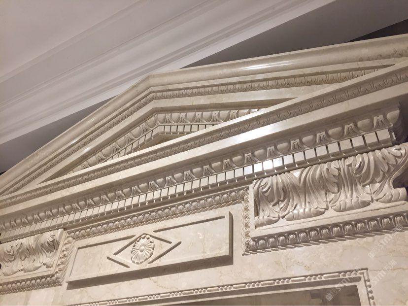 雕刻异形复合板水刀拼花圆柱花框线条魔方砖