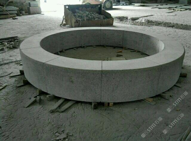 圆形花圃路沿石图片