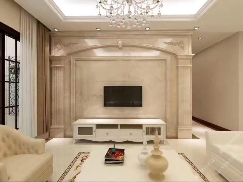 背景墙奢石中式欧式现代设计护墙板水刀拼花柱子